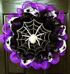 Mesh Deco Halloween Wreath!!!