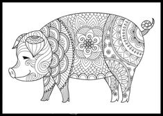 Adult Coloring Pages Pig Best Of Pig Coloring Page Printable Coloring Pages Adult by Adult Coloring Pages, Turkey Coloring Pages, Mandala Coloring Pages, Animal Coloring Pages, Colouring Pages, Printable Coloring Pages, Coloring Sheets, Coloring Books, Pig Drawing