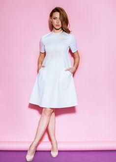 Платье с карманами «сердце»