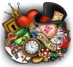 Alice In Wonderland (Memorabilia by RedHead-K @deviantART) #AliceInWonderland