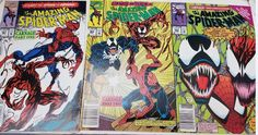 The Amazing Spider-Man #361, 362, 363(1992, Marvel) Bagged and Boarded VF+ #Spiderman #Carnage #Venom #FirstApperance #marvelcomics #ComicBooks #comics #comicsforsale