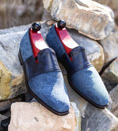 Something just different. The 'Shoreline' in blue canvas, now available. J.FitzPatrick Footwear