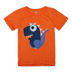 Little Maven Lovely Dinosaur Baby Children Boy Cotton Short Sleeve T-shirt Top