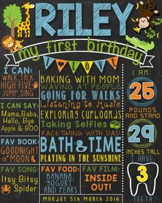 Hey, I found this really awesome Etsy listing at https://www.etsy.com/listing/269018084/safari-first-birthday-chalkboard-poster