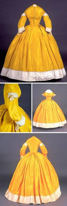 Caroline Bolles Cleveland wore this dress to President Lincoln's inaugural ball in 1861. Connecticut Historical Society