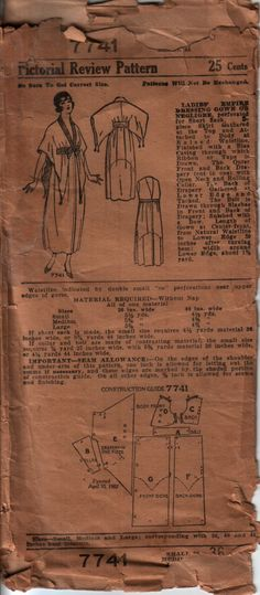 Charming dressing gown... about 1916 - 1918?