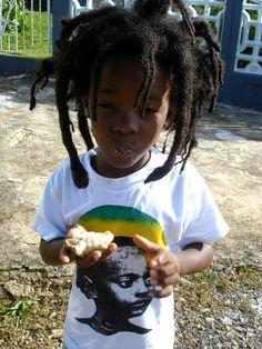 Rasta little boy freeforming <3 Locs