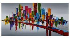 Tableau peinture à l'huile 120x60 cm - Ludington Decoration, Images, Outdoor Decor, Home Decor, Google, Art, Contemporary Design, White Frames, Oil