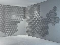 Płyta betonowa 3D - Bettoni - Pyramids - szara