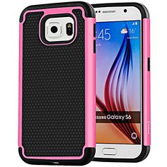 VAKOO For Samsung Galaxy S6 Case Armor [Ultra Fit] Premium TPU Grip Bumper Heavy Duty Protection Slim Fit Hybrid Matte Hard Protective Case for Galaxy S 6 / Galaxy S VI - Pink Vakoo http://www.amazon.com/dp/B00XVBE3AI/ref=cm_sw_r_pi_dp_bJpEvb0GN66JV