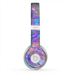 The Abstract Colorful Oil Paint Splatter Strokes Skin for the Beats by Dre Solo 2 Headphones