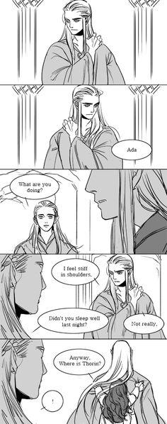 Thranduil and Thorin lol Thranduil Funny, Tolkien Hobbit, Legolas And Thranduil, Hobbit Art, The Hobbit, Gandalf, Mirkwood Elves, Lotr Elves, Elven Queen