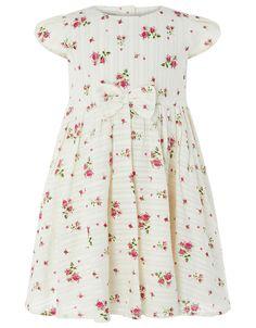 Monsoon | Baby Pandora Print Dress | White | 3-6 Months | 4120532605