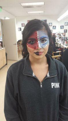 Bellus Academy make-up artistry students practiced Avantgarde in class! #makeup #artistry