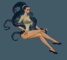 Octopus Head, Log .h on ArtStation at https://www.artstation.com/artwork/g2KwL