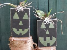 Pumpkins  Shabby Chic  Rustic Primitive glow in the by YouSaidWhat, $12.50