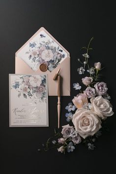 Floral Wedding Invitations Wedding Planning Tips Bride Wedding Decorations Wedding Decor Wedding - Charming Grace Events Personalised Wedding Invitations, Vintage Wedding Invitations, Watercolor Wedding Invitations, Floral Invitation, Wedding Invitation Cards, Personalized Wedding, Invitation Suite, Wedding Stationery, Wedding Vintage
