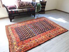 オールドラグ・ペルシャ絨毯/サナンダージ・リビングサイズ207×147cmボテ(ペイズリー)モチーフ