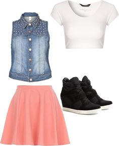 """Polished skater girl"" by maryob on Polyvore"