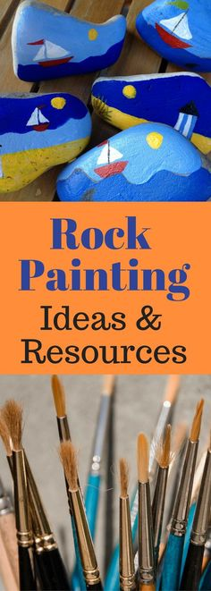 This is a lot of rock painting ideas that will help everybody to learn how to paint rocks. Crafts Rock Painting Ideas & Resources - LOTS of information about painted rocks Pebble Painting, Pebble Art, Stone Painting, Shell Painting, Spray Painting, Painting Art, Stone Crafts, Rock Crafts, Arts And Crafts