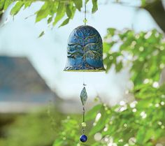 Plow & Hearth Porcelain Whispering Bell Windchime