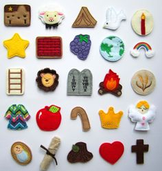 Have fun counting down the days until Christmas with with a Jesse Tree advent ornament set. This is a DIY Jesse Tree Ornament Kit. from Etsy (pretty expensive set, but do like it) Jessie Tree Ornaments, Felt Ornaments, Felt Christmas, Christmas Holidays, Christmas Ornaments, Christmas Nativity, Christmas Decorations, Christmas Activities, Christmas Traditions