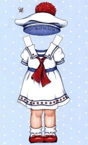 Star Spangled Sailor paperdoll outfit  Ann Estelle Tonner Mary Engelbreit Comparison Guide
