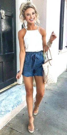 34 Chic and Easy Summer Outfit Ideas – Stylish Bunny Related Stylish Sweaters Outfit for Cold WinterThese are top 20 cute outfits with sneakers you need to wear! 45 Cute Summer Outfits You Should Own Vol. Simple Summer Outfits, Spring Outfits, Outfit Summer, Summer Dresses For Women, Dress Summer, Winter Outfits, Day Drinking Outfit, Short Outfits, Cute Outfits