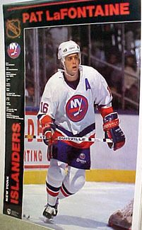 01eb55010 PAT LAFONTAINE New York Islanders Hockey Action Poster (Norman James 1990)  - Sold for