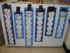 Under The Big Top: Counting Snowmen are various heights: could use for spelling words, kids names for art projects, math facts...
