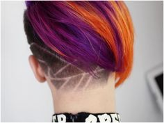 42 Most Elegant Undercuts Haircuts & Hairstyles for Female Undercut Women, Undercut Hairstyles, Trendy Hairstyles, Female Undercut, Hair Dye Colors, Hair Color, Hair Tattoos, Hair Creations, Shaved Hair