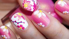 Flower Nail art – 40 beautiful ideas | Nail art - nails - diy - Part 3