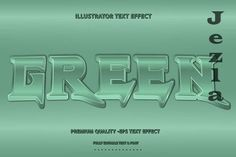 3D Retro Text Style With Green Accen - 5445239 Text Design, Print Design, Layer Style, Text Style, Green Accents, Text Effects, Text You, Vector Stock, Lettering Design