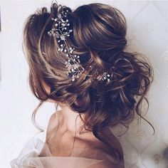 Wedding hair updo ideas #romantic
