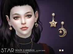 Moon Earrings hope you like, thank you. Found in TSR Category 'Sims 4 Female Earrings' Sims 4 Cc Skin, Sims Cc, Sims 4 Piercings, Sims 4 Cc Folder, Sims Packs, Adore Delano, Sims 4 Characters, Sims Four, The Sims 4 Download