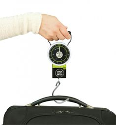 Never let a shopping vacation or overpacking habit cost  you in oversized luggage fees at the airline check-in counter!  The Travelon Luggage Scale will help you make sure your bags are within weight guidelines for air travel.