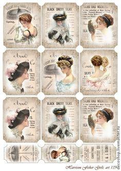 Vintage Ladies with Hats Printables
