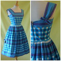 jaren 1950 vintage dag jurk / 50s zon jurk / door HepCatVintageUK