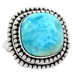 Larimar-Dominican-Republic-925-Sterling-Silver-Ring-Jewelry-s-7-SR150859