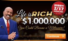 Enter our free online sweepstakes and contests for your chance to take home a fortune! Will you become our next big winner? Instant Win Sweepstakes, Online Sweepstakes, 3 Million Dollars, Win For Life, Prince Frederick, Ford Explorer Xlt, Publisher Clearing House, Winning Numbers, Dreams Do Come True