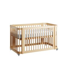 The Wave Crib   Natural Wood Modern Convertible Mini-Crib and Full Crib with Toddler Bed   Nestig Nursery Lighting, Loft Furniture, Kool Kids, Mini Crib, Wood Accents, All About Eyes, Midcentury Modern, Natural Wood, Innovation Design