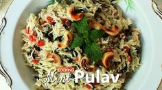 Mint Pulao Recipe Ingredients: Basmati Rice - 2 cups (400 ml) Ghee - 1 1/2 tbsp Oil - 1 tbsp Piece of Cinnamon Few Clove Cardamom pods - 4 nos Bay leaf - 2 nos Onion - 4 nos sliced Green Chilli paste - 2 tsp Ginger & Garlic paste - 2 tsp Coconut paste - 3 tsp Mint leaves - 2 bunches Few Coriander leaves Diluted Coconut Milk - 4 cups Salt to taste Tomatoes - 2 nos chopped Method: 1. Soak basmati rice for 30 minutes. 2. Add 1 1/2 tbsp of ghee and 1 tbsp of oil. 4. Add cinnamon,...