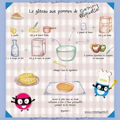 Apple cake recipe Source by CMonEtiquette Cooking With Kids, Easy Cooking, Gout Remedies, Organic Cooking, Cake Factory, Apple Cake Recipes, Food Illustrations, Tupperware, Creative Gifts
