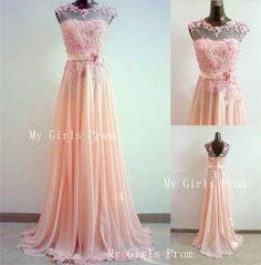 Custom Made A-line Round Neckline Lace Prom Dresses, Lace Formal Dresses, Evening Dresses, Lace Bridesmaid dresses, Dresses For Prom 2014
