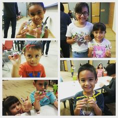 Making Pipe Cleaner Ninjas at McAllen Public Library's Crazy Craft Thursdays!