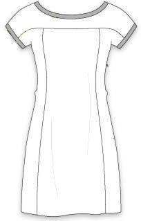 Платье с цельнокроеным коротким рукавом фото