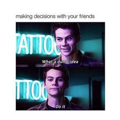 Aka Percy Jackson's life in a sentence. Two beat things ever. Teen wolf and Percy Jackson Teen Wolf Memes, Dylan O'brien, Dylan Thomas, Funny Relatable Memes, Funny Quotes, The Last Olympian, Oncle Rick, Rick Riordan Books, Inspirational Quotes Pictures