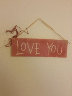 Valentine's Day Love You Rustic Wood Sign Wall Decor by BabyRaggz