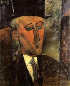 Portrait of Max Jacob, 1916 | Amedeo Modigliani | Kunstsammlung Nordrhein-Westfalen, Dusseldorf