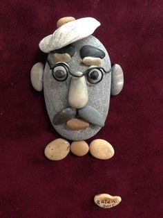 Pebble art portrait by gülen #pebbleart #rockart #diy #artcraft